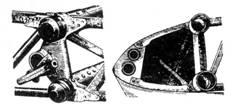 Узлы крепления плоскости крыла.