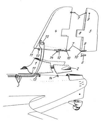 Схема хвостового оперения.
