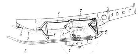 Схема главного шасси «Кометы».