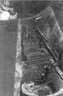 Пушка МК 108 в орудийном отсеке.