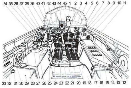 Кабина Me 163В: