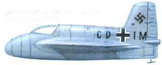Me 163A (V8, CD+IM). весь самолет выкрашен в RLM 02.
