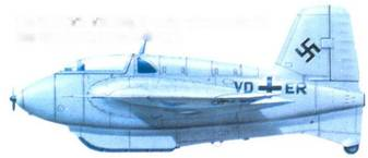 Me 163В (V 9. VD+ER), Erprobungskommando 16. Бад-Цвишенан, осень 1943 года.