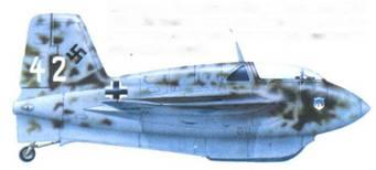 Стандартный камуфляж. Фюзеляж в пятнах RLM 81/82. Эмблема нанесена на обоих бортах. На самолете нет двигателя, машина предназначалась для учебных целей.