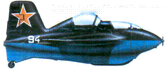 Me 163S. пилот М. Галлай. Самолет перекрашен советскими красками.