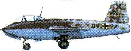 Me 263V1 (W.Nr. 381001. DY + PAL, август 1944 года.