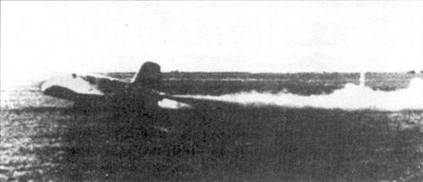 Пуск ракетного двигателя перед стартом.
