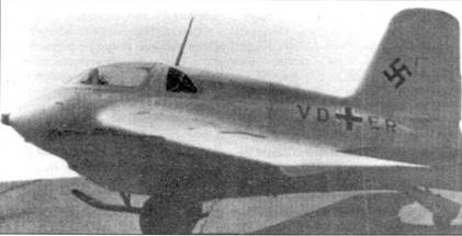 Me 163В (V8), выпущенный заводом Мессершмитта.