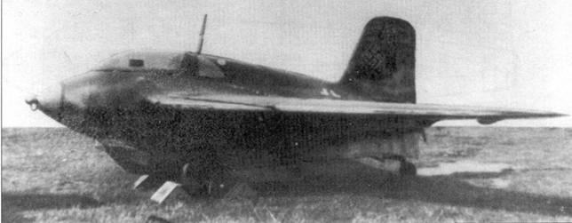 Прошедший цензуру снимок Me 163В-1 W.Nr. 191454.