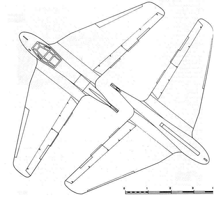DFS 194 вид сверху и DFS194 вид снизу