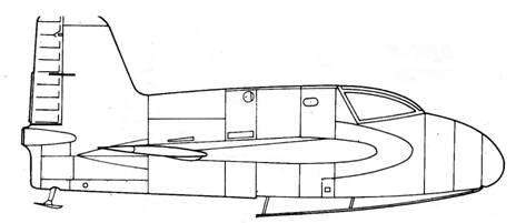 Me 163 А вид справа