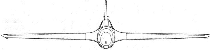 Me 163 А вид спереди
