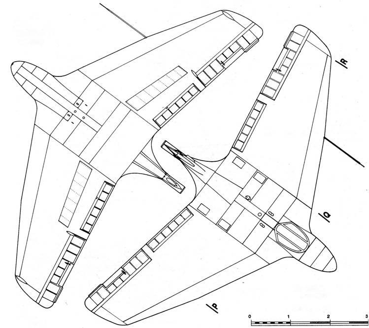 Me 163 А вид снизу и Me 163 А вид сверху