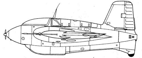 Me 163 В-0 с пушками MG 151/20, производства фирмы Мессершмитт
