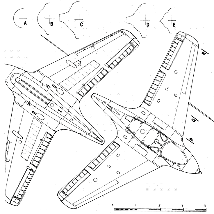 Ме163 В-1 серии, вид снизу Me 163 В-1 2-й серии, вид сверху