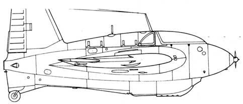 Me 163 В-1 второй серии с радиополукомпасом