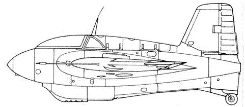 Me 163 В-1 учебный, без двигателя