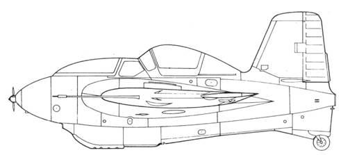 Серийный Me 163 S производства фирмы Юнкерс, вид слева
