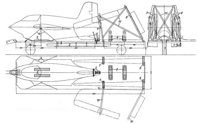 Me 163В на транспортной платформе