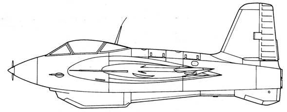 Me 163 С вид слева