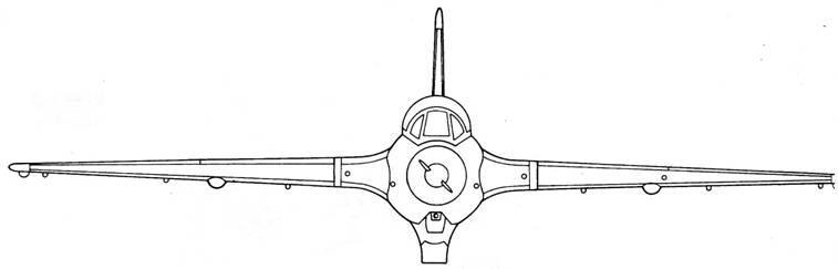 Me 163 С вид спереди
