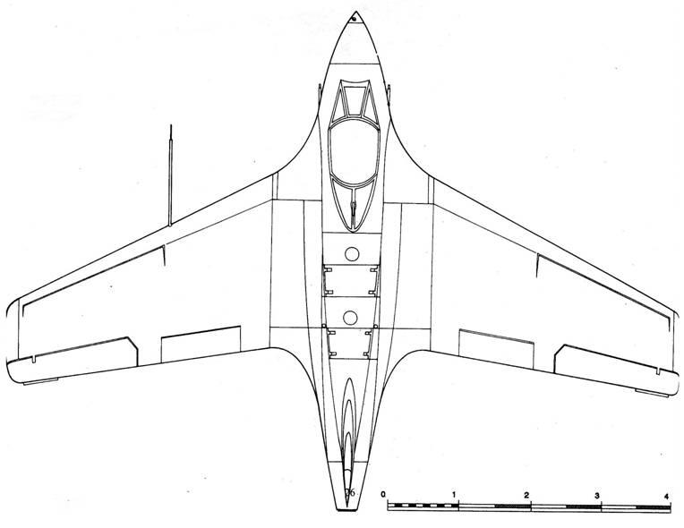 Me 163 С вид сверху