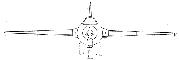 Ju 248 V1 вид спереди