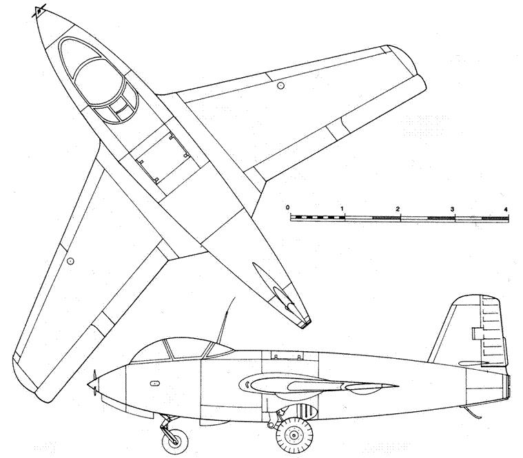 Ju 248 V1 вид сверху
