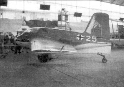 Me 163, W.Nr. 191904 на выставке в Абингдене, 1970г.