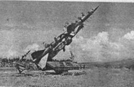 Полустационарная ПУ ЗРК С-75 с наклонным стартом