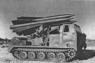 Пусковая установка на самоходном гусеничном шасси М727