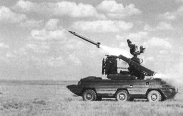 Пуск ракеты ЗРК «Оса»