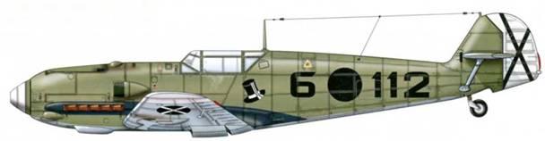 Bf 109Е-1 из 2.j/88, Испания, весна 1939 г. Верхние поверхности: RLM 63 Нижние поверхности: RLM 65