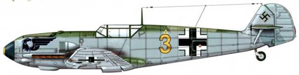 Bf 109Е-1 из 6./jg 52, Шпейер, Германия, март 1940 г. Верхние поверхности: RLM 71/02 Нижние поверхности: RLM 65