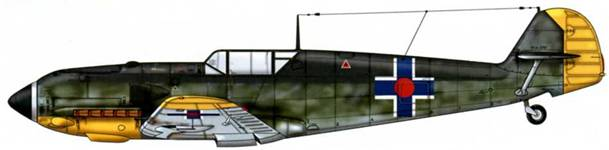 Bf 109Е-4 из 13-й словацкой эскадрильи, начало 1944 г.