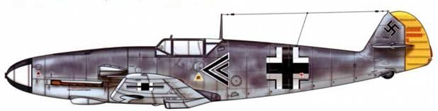 Bf 109F-2 из l./JG 26, июль 1941 г. Пилот Major (майор) Рольф Петер Пингель, командир группы. Верхние поверхности: RLM 74/75. Нижние поверхности: RLM 76.