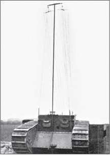«Радиотанк» с развернутой антенной. Работа на радиостанции была возможна только на стоянке.