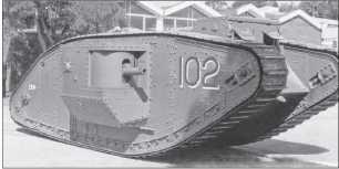Танк Mk IV «самец», отреставрированный в Бовингтоне, Англия.