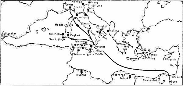 Итальянские и британские базы в Средиземном море