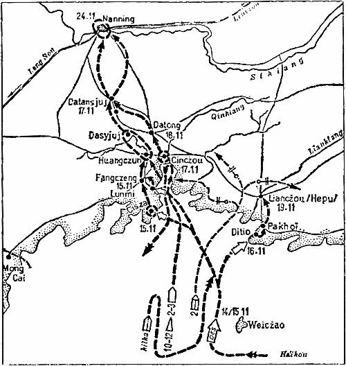 Японский десант в районе Бэйхая