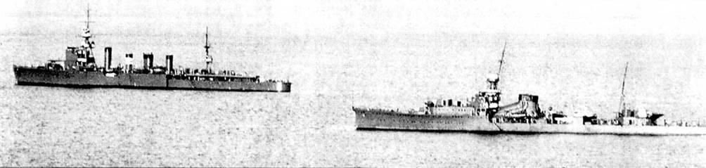Легкие крейсера «Юниу» и «Юбари» ни учениях. 1927г. На крейсере «Юбари» отрабатывались новейшие достижения японского кораблестроения. Удачный корабль послужил прототипопом при проектировании <a href='https://arsenal-info.ru/b/book/2414474991/4' target='_self'>тяжелых крейсеров</a> для Императорского японского флота, но до появления в 1941г. «Агано» идеи, заложенные в проекте «Юбари» на легких крейсерах востребованы не были.