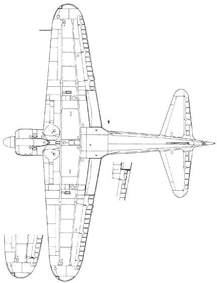 A6M2 Model 21 триммер утоплен в элерон начиная с машины № 127 фрагмент – нижняя часть крыла с противовесом