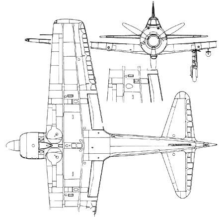 A6M3 Model 32 фрагмент – низ крыла с пушками