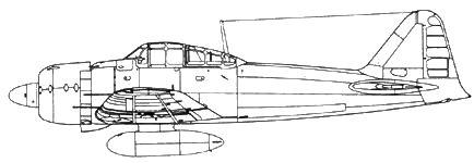 A6M3/5 переходная модель с фюзеляжем М32/33 и крыльями М 52