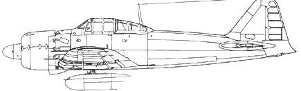 A6M5b Model 52b с 320-л топливным баком