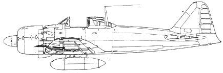 A6M5c Model 52c с 320-л топливным баком, остекление кабины частично демонтировано