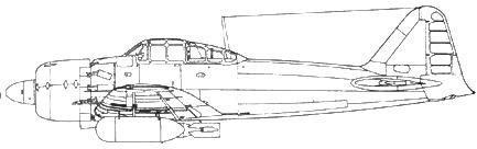 A6M7 Model 63e с 250-кг бомбой и 150-л топливными баками