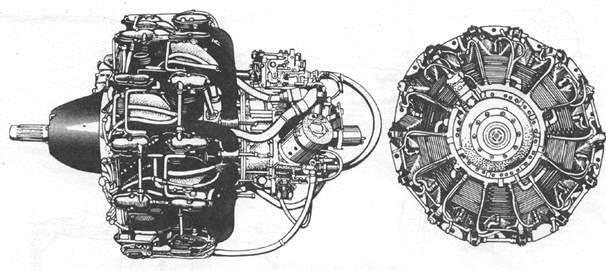 Двигатель Najajima Sakae Model 21 A6M3 Model 22KO