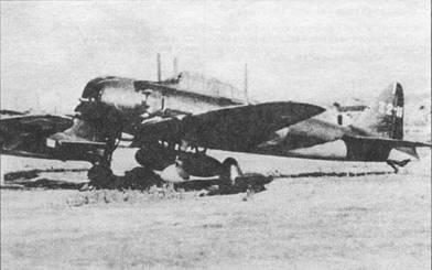 «Зеро» модель 52с, винт и кок сняты. Под фюзеляжем подвешен топливный бак. Снимок сделан в последние дни войны.