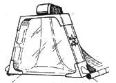 55-мм заголовник кресла пилота выполнен из бронестекла